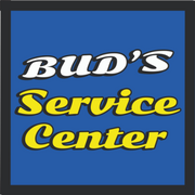 Bud's Service Center Blue Square Logo